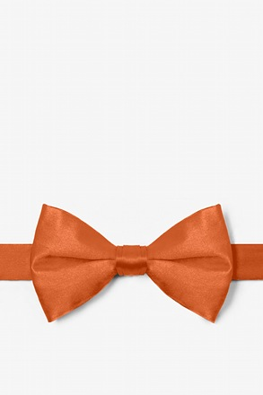 Burnt Orange Pre-Tied Bow Tie