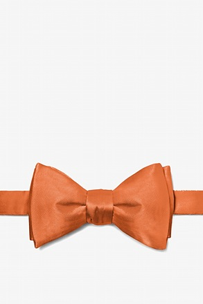 Burnt Orange Self-Tie Bow Tie