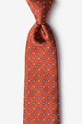 Burnt Orange Silk Hoste Extra Long Tie