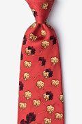 Burnt Orange Silk Mad Cow Tie
