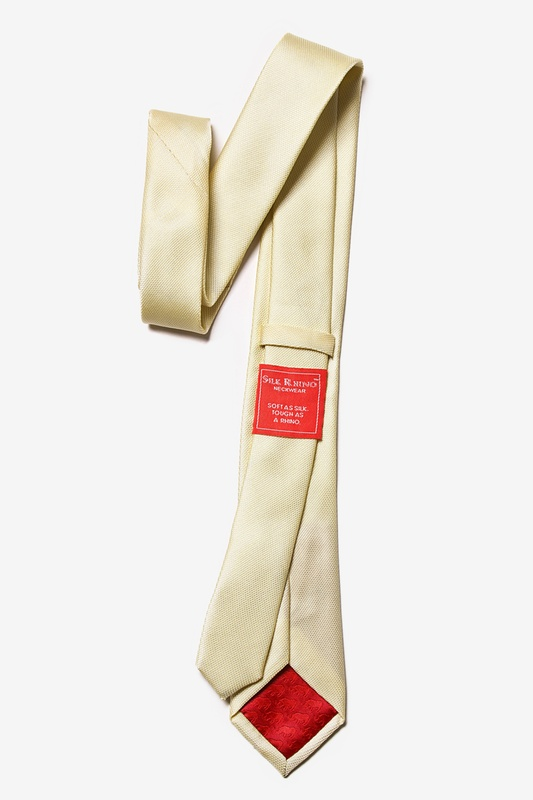 Butter Yellow Textured Skinny Tie