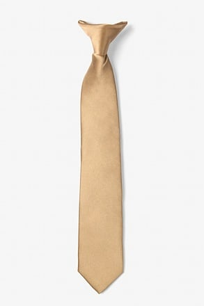 _Butterscotch Clip-on Tie For Boys_