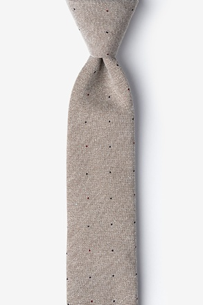 Camel Warner Cotton Polka Dots Skinny Tie