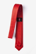 Candy Apple Red Stafford Faux Leather Skinny Tie Photo (2)
