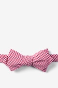 Candy Apple Red Seersucker Red Chamberlain Check Diamond Tip Bow Tie
