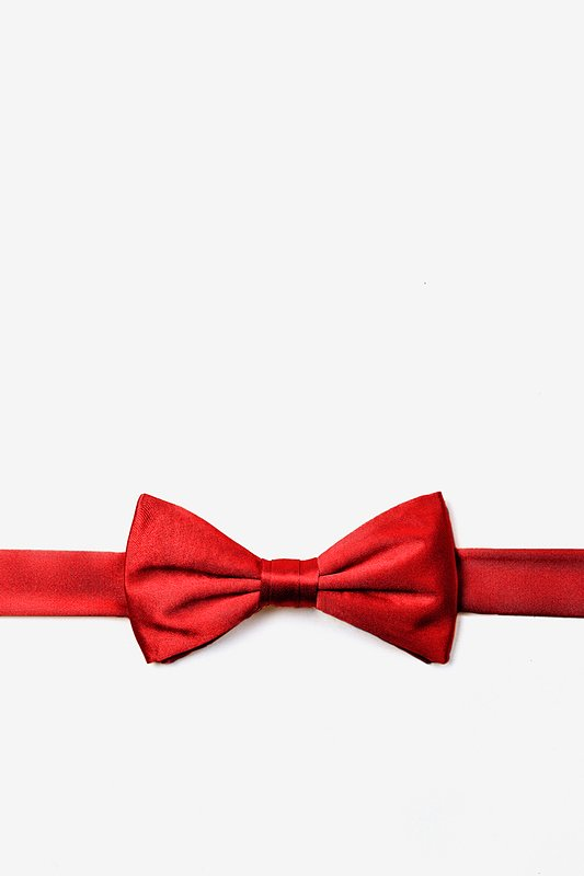 Candy Apple Red Bow Tie For Boys