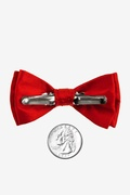 Candy Apple Red Bow Tie For Infants Photo (1)