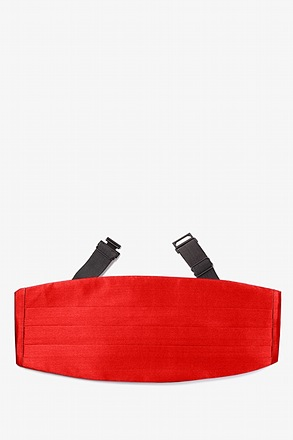 Candy Apple Red Cummerbund