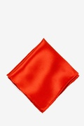 Candy Apple Red Silk Candy Apple Red Pocket Square