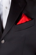 Candy Apple Red Pocket Square Photo (2)
