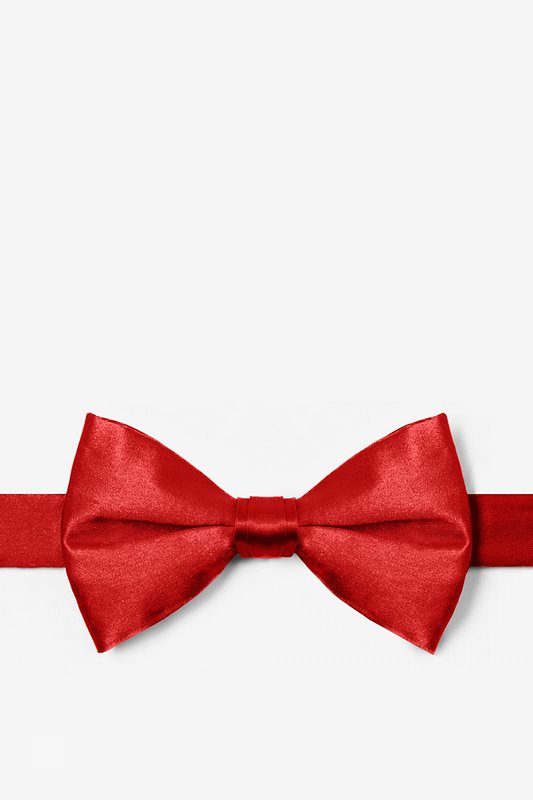 Candy Apple Red Pre-Tied Bow Tie Photo (0)
