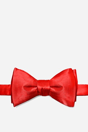 _Candy Apple Red Self-Tie Bow Tie_