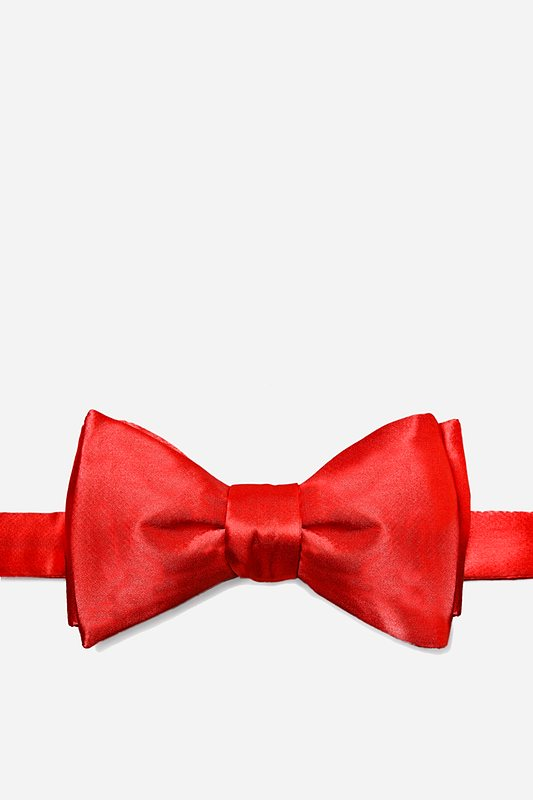 Candy Apple Red Self-Tie Bow Tie Photo (0)