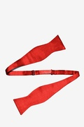 Candy Apple Red Self-Tie Bow Tie
