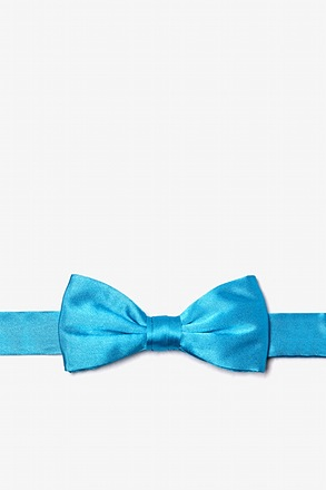 Caribbean Blue Bow Tie For Boys