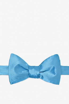Caribbean Blue Butterfly Bow Tie
