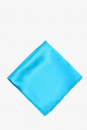 _Caribbean Blue Pocket Square_
