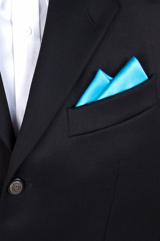 Caribbean Blue Pocket Square Photo (2)