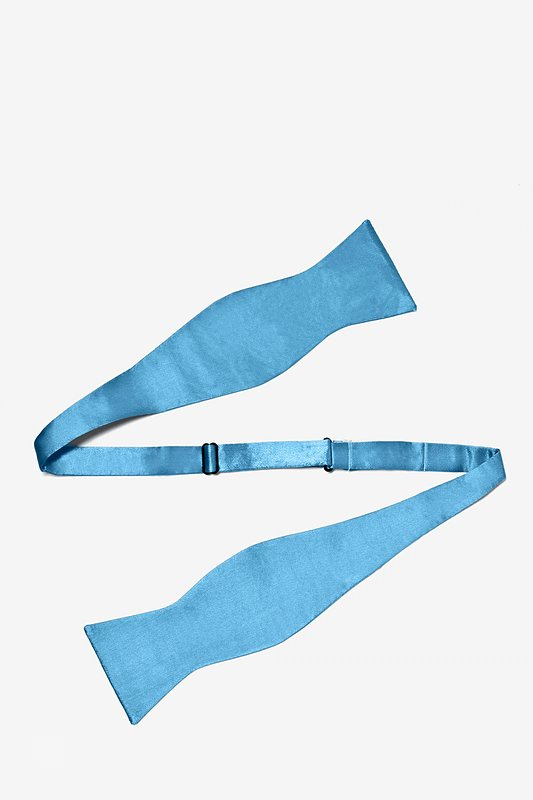 Caribbean Blue Self-Tie Bow Tie Photo (1)