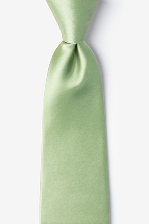 _Celadon Green Extra Long Tie_