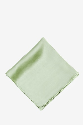 _Celadon Green Pocket Square_