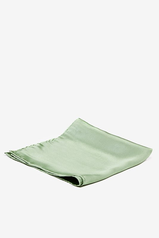 Celadon Green Pocket Square