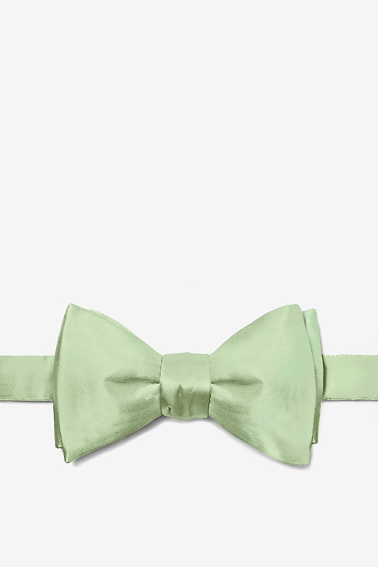Celadon Green Self-Tie Bow Tie Photo (0)