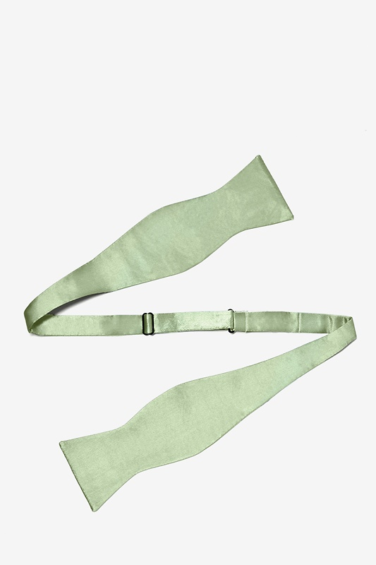 Celadon Green Self-Tie Bow Tie Photo (1)