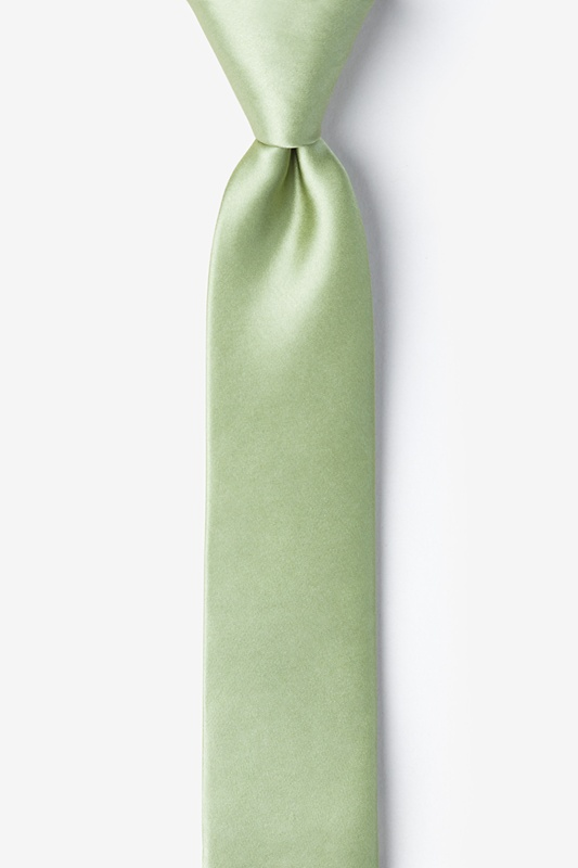 Celadon Green Skinny Tie Photo (0)