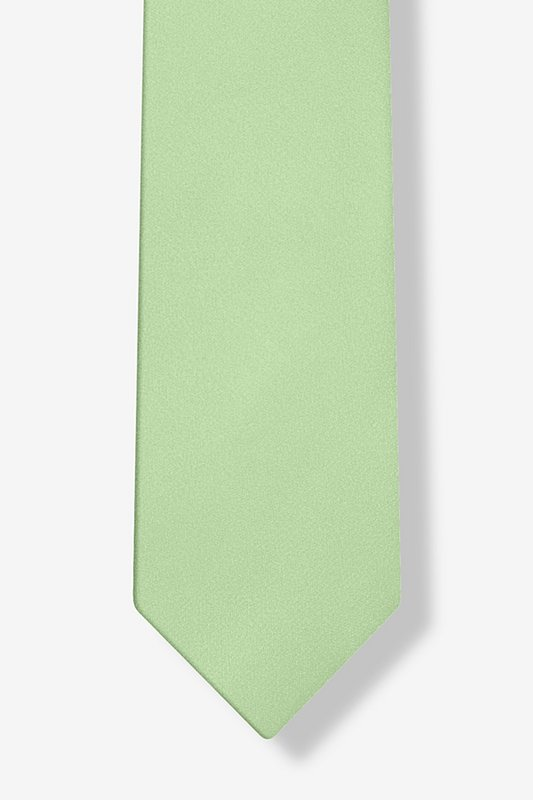 Celadon Green Tie For Boys Photo (3)