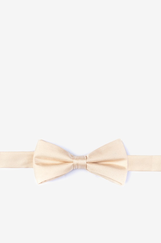 Champagne Bow Tie For Boys
