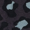 Charcoal Carded Cotton Leopard Print Sock
