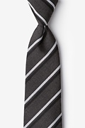 Charcoal Cotton Beasley Extra Long Tie