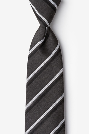 Beasley Charcoal Extra Long Tie