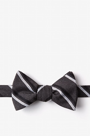 Beasley Charcoal Self-Tie Bow Tie