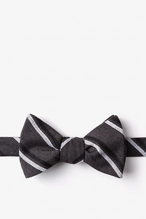 _Beasley Charcoal Self-Tie Bow Tie_
