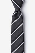 Charcoal Cotton Beasley Skinny Tie