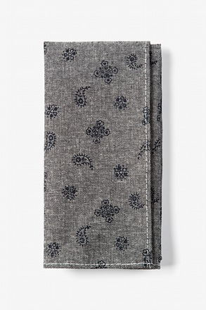 Black Hunter Paisley Pocket Square