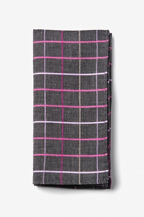Charcoal Checkers Pocket Square