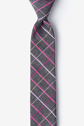 Charcoal Checkers Skinny Tie