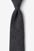 Charcoal Cotton Cottonwood Extra Long Tie