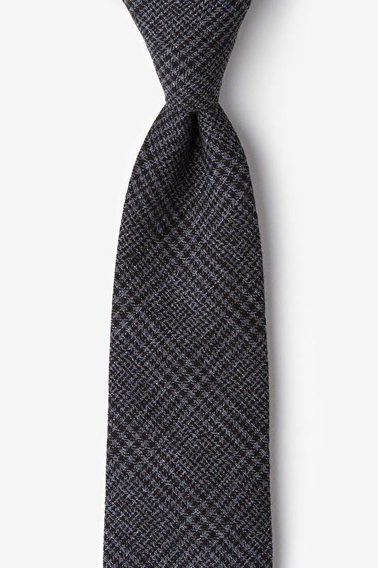 Cottonwood Charcoal Extra Long Tie Photo (0)
