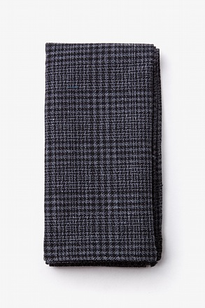 Cottonwood Charcoal Pocket Square