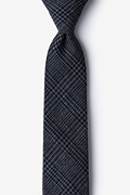 Charcoal Cotton Cottonwood Skinny Tie