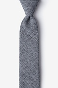 Charcoal Cotton Denver Skinny Tie
