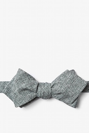 Galveston Charcoal Diamond Tip Bow Tie
