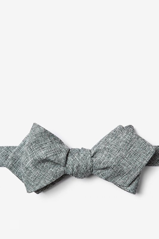 Galveston Charcoal Diamond Tip Bow Tie Photo (0)