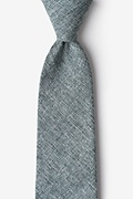Charcoal Cotton Galveston Extra Long Tie