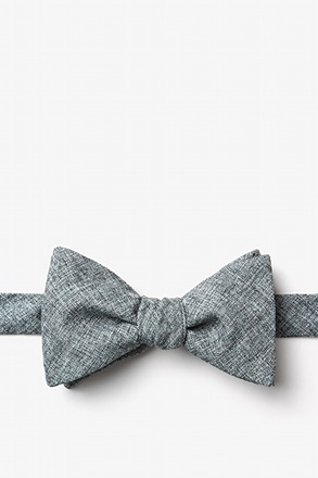 Galveston Charcoal Self-Tie Bow Tie