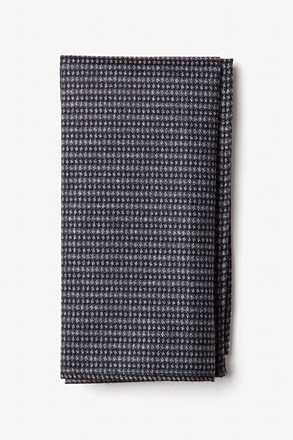 Gilbert Charcoal Pocket Square